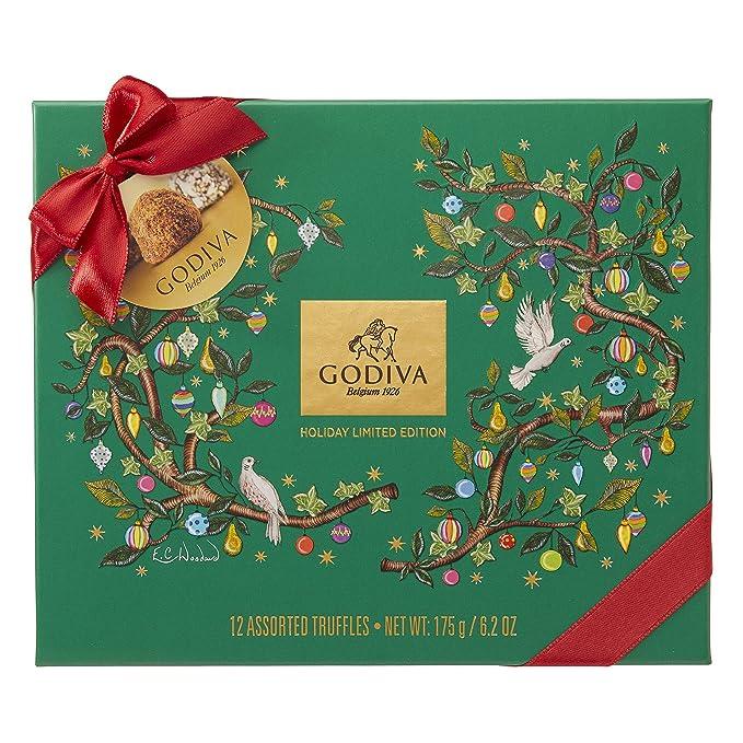 Godiva, Navidad 2018 bombones trufas surtidas caja regalo 12 piezas ...