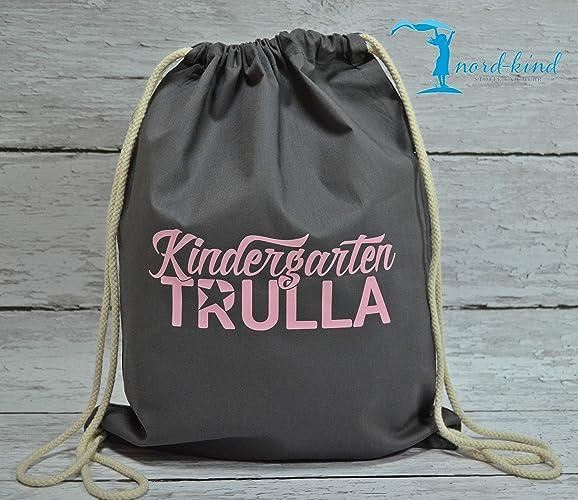 4240d233fd254 Sportbeutel Kindergarten Trulla Turnbeutel mit  Spruch Gymbag Jutebeutel Rucksack