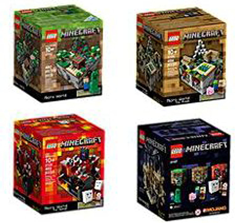 LEGO Minecraft Set Lego Minecraft Collection 4 Set [21102, 21105, 21106, 21107]