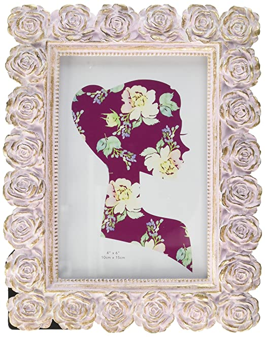fancy roses golden picture frame