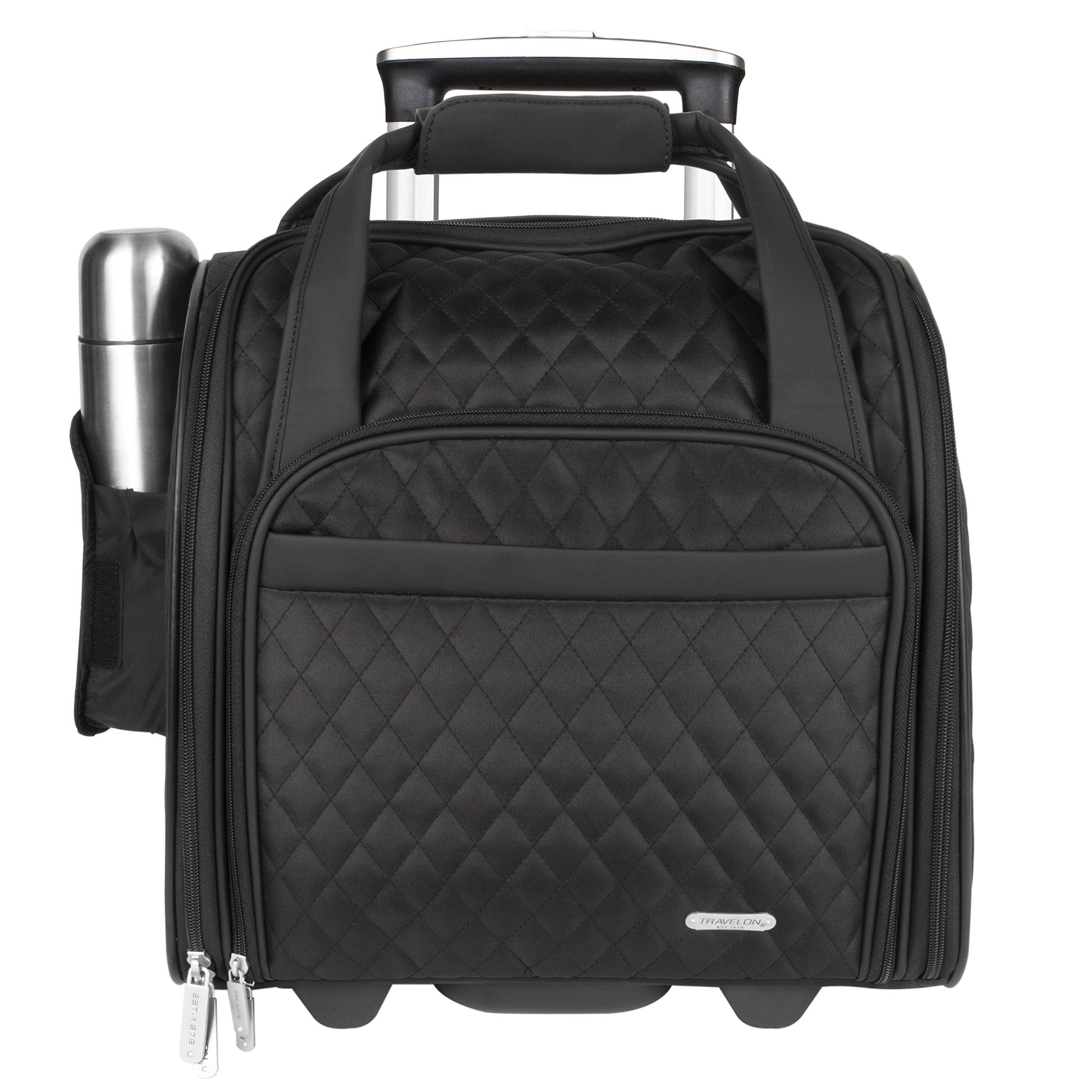 Travelon Wheeled Underseat Carry-On with Back-Up Bag, Black, One Size
