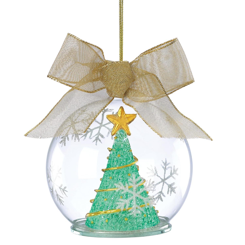 Lenox Christmas Tree Toppers Part - 45: Amazon.com: Lenox Lit Wonder Ball Hanging Ornament, Tree Green: Home U0026  Kitchen