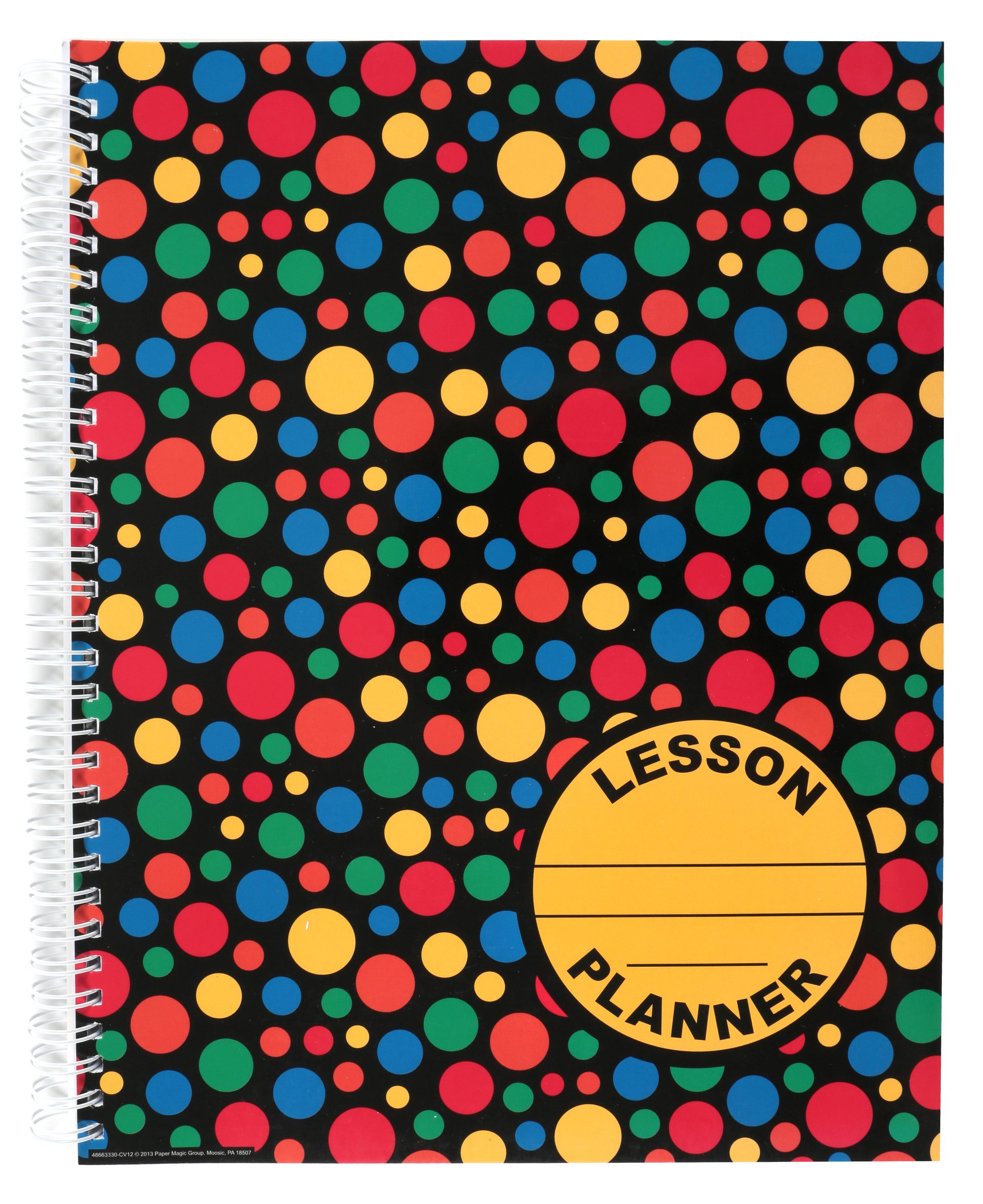Eureka Dots on Black 40 Week Lesson Plan and Record Book, Measures 8.5'' x 11''