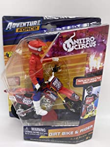 Adventure Force - Dirt Bike & Rider - Collect Them All to Complete Nitro Circus: Styles May Vary!!! (Red Bike)