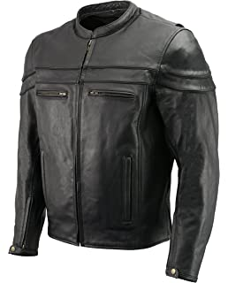 Amazon Com Xelement Xspr105 The Racer Mens Black Armored Leather