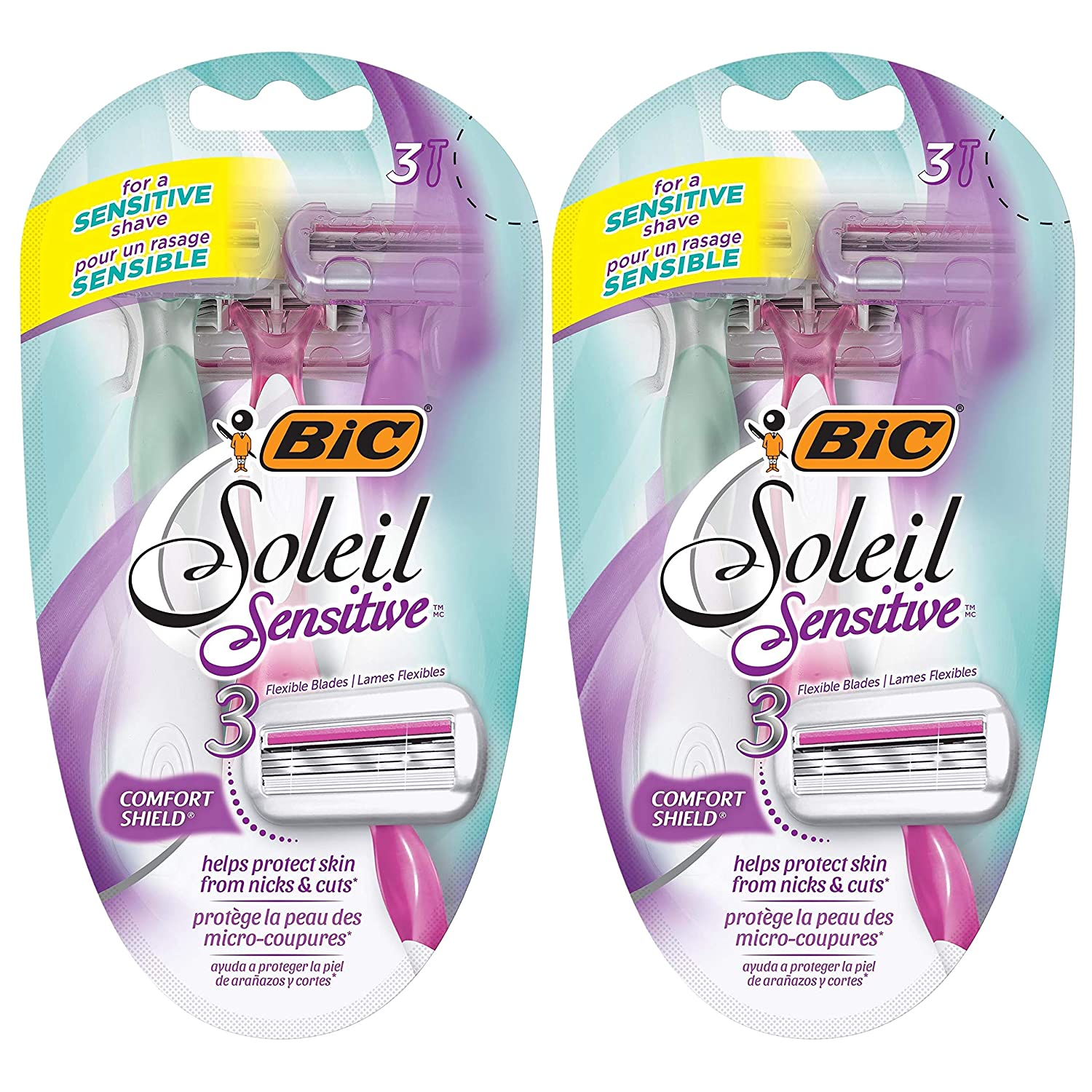 BIC Soleil Glow Women's Disposable Razor, 6 Count BIC Razors