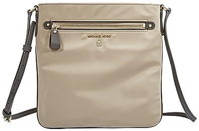 fb3f23094f64 MICHAEL Michael Kors Kelsey Large Nylon Crossbody - Truffle  Handbags   Amazon.com