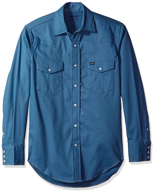 f8630fdc Wrangler Men's Premium Performance Advanced Comfort Workshirt, Slate Blue,  M: Amazon.com.au: Fashion