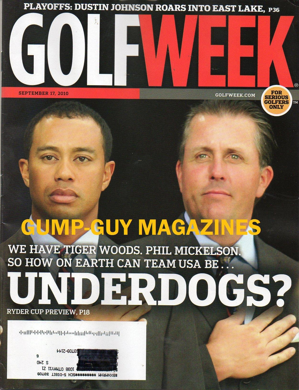 Download Golf Week Magazine September 17 2010 PLAYOFFS: DUSTIN JOHNSON ROARS INTO EAST LAKE We Have Tiger Woods, Phil MicKelson. So How On Earth Can Team USA Be Underdogs? Ryder Cup Preview PDF