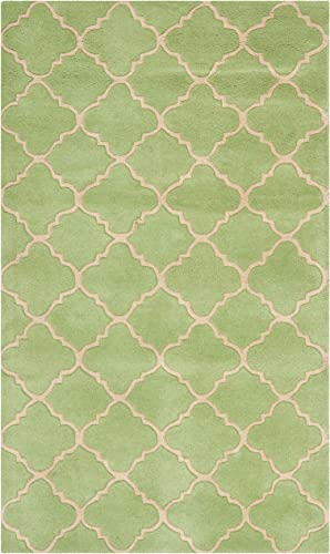 Safavieh Chatham Collection CHT935B Handmade Green Premium Wool Area Rug 3' x 5'