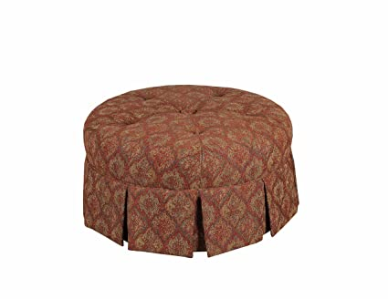 Astonishing Leffler Home 12000 16 05 01 Tomato Ava Round Pleated Upholstered Ottoman Red Pabps2019 Chair Design Images Pabps2019Com