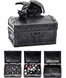 Forged Dice Co. Deluxe Dragon Dice Storage Box with Custom Dice Foam Insert - Container Holds up to 6 Sets of Polyhedral…
