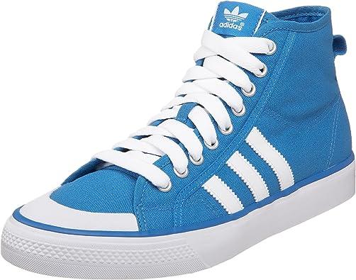 dictador tribu capital  Amazon.com | adidas Originals Men's Nizza Hi Sneaker, Blue/Chalk/White, 4 M  | Fashion Sneakers