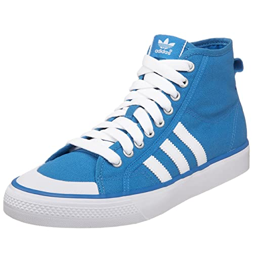 multiple colors unique design 50% price Amazon.com | adidas Originals Men's Nizza Hi Sneaker, Blue ...