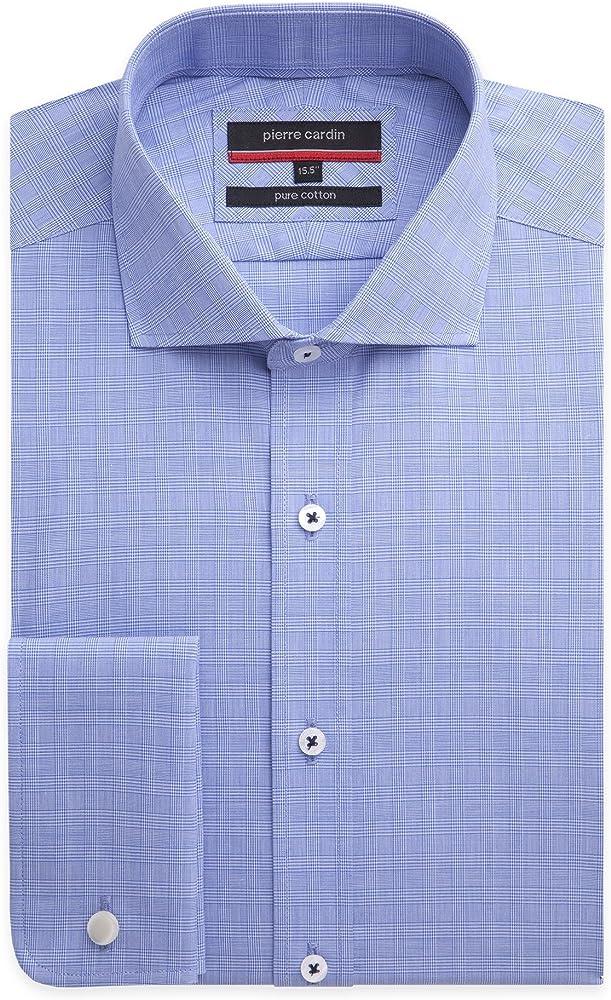 Pierre Cardin - Camisa formal - Cuadrados - para hombre azul azul 50: Amazon.es: Ropa y accesorios