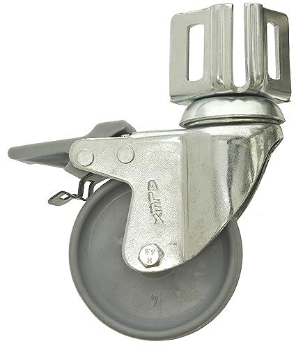Simonrack 52209000002 Rueda para estantería (80 mm, con pie, con Freno, Incluye