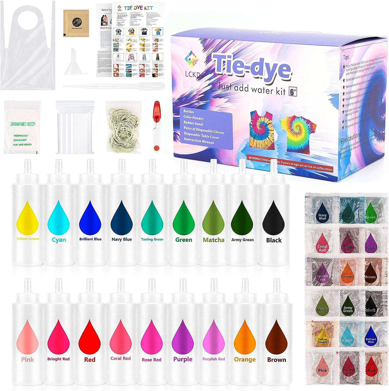Ventvinal Tie Dye Kit de 18 tintes para manualidades, colores vibrantes, juego de coloración de corbatas