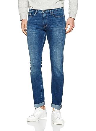 Jeans Slim Straight - True Worn Blue, Hombre, Azul (True Blue), W33/L32 (Talla del fabricante: 3233) Calvin Klein