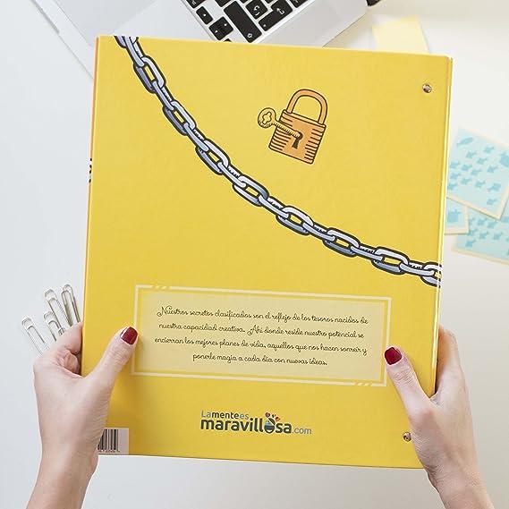 La mente es maravillosa-Archivador original-Regalo para amiga con dibujos-SECRET: Amazon.es: Oficina y papelería