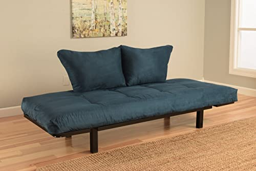 Best Futon Lounger – Mattress ONLY – Sit Lounge Sleep – Small Furniture for College Dorm, Bedroom Studio Apartment Guest Room Covered Patio Porch POSH Blue