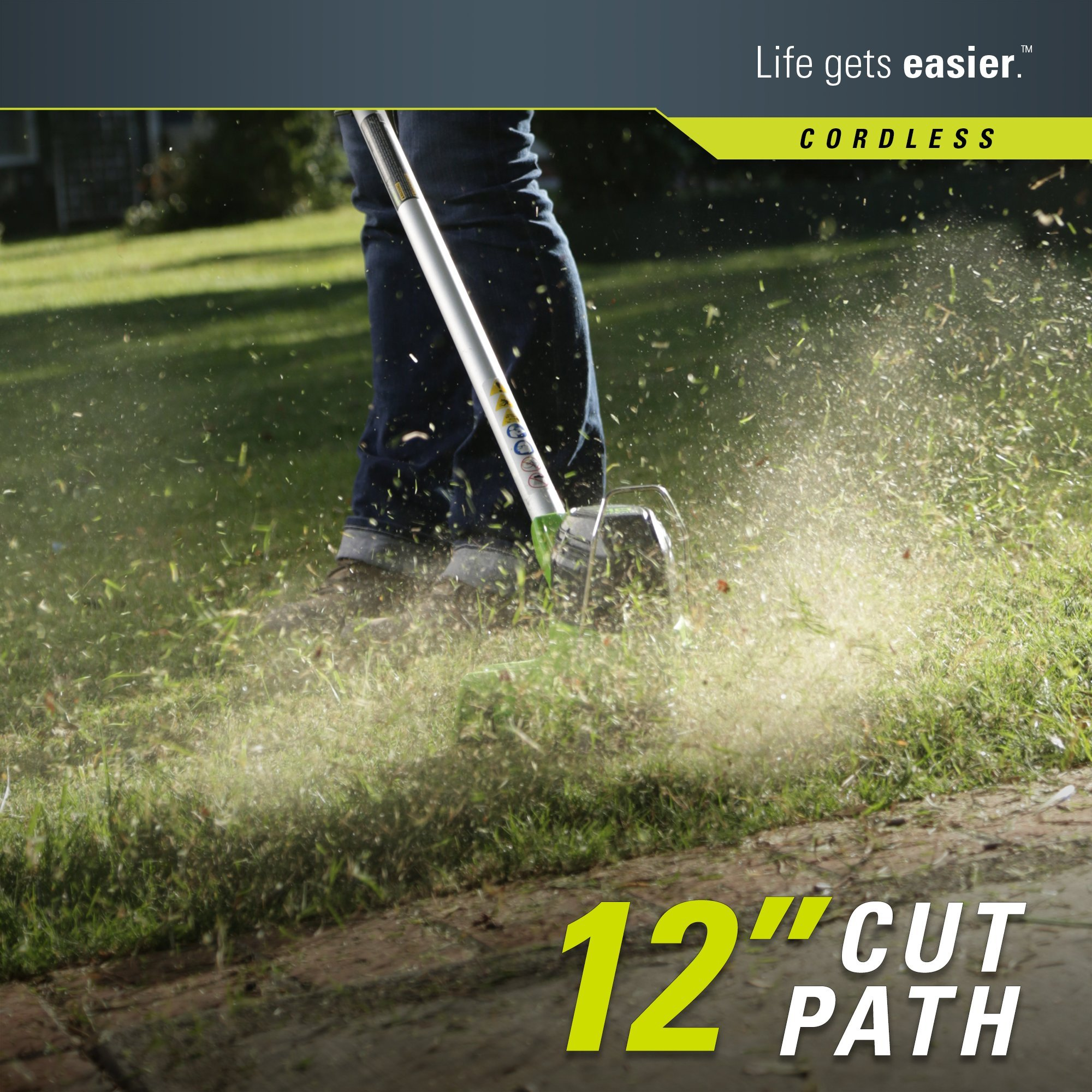 GreenWorks 2101602 G-MAX 40V 12-Inch Cordless String Trimmer, 2Ah Battery and Charger Included by Greenworks (Image #2)