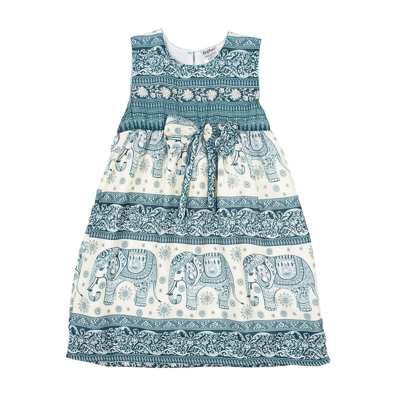 Lofbaz Girls Printed Rayon Sleeveless Tea Dresses