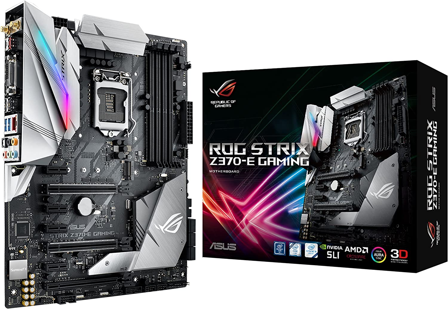 Amazon.com: ASUS ROG Strix Z370-E Gaming LGA1151 DDR4 DP HDMI DVI M.2 Z370 ATX Motherboard with onboard 802.11ac WiFi and USB 3.1 for 8th Generation Intel Core Processors: Computers & Accessories