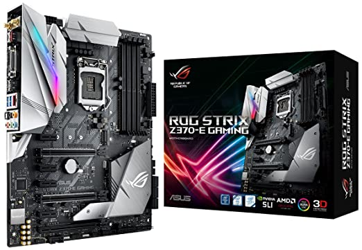 ASUS ROG Strix Z370-E Gaming LGA1151 DDR4 DP HDMI DVI M 2 Z370 ATX  Motherboard with onboard 802 11ac WiFi and USB 3 1 for 8th Generation Intel  Core