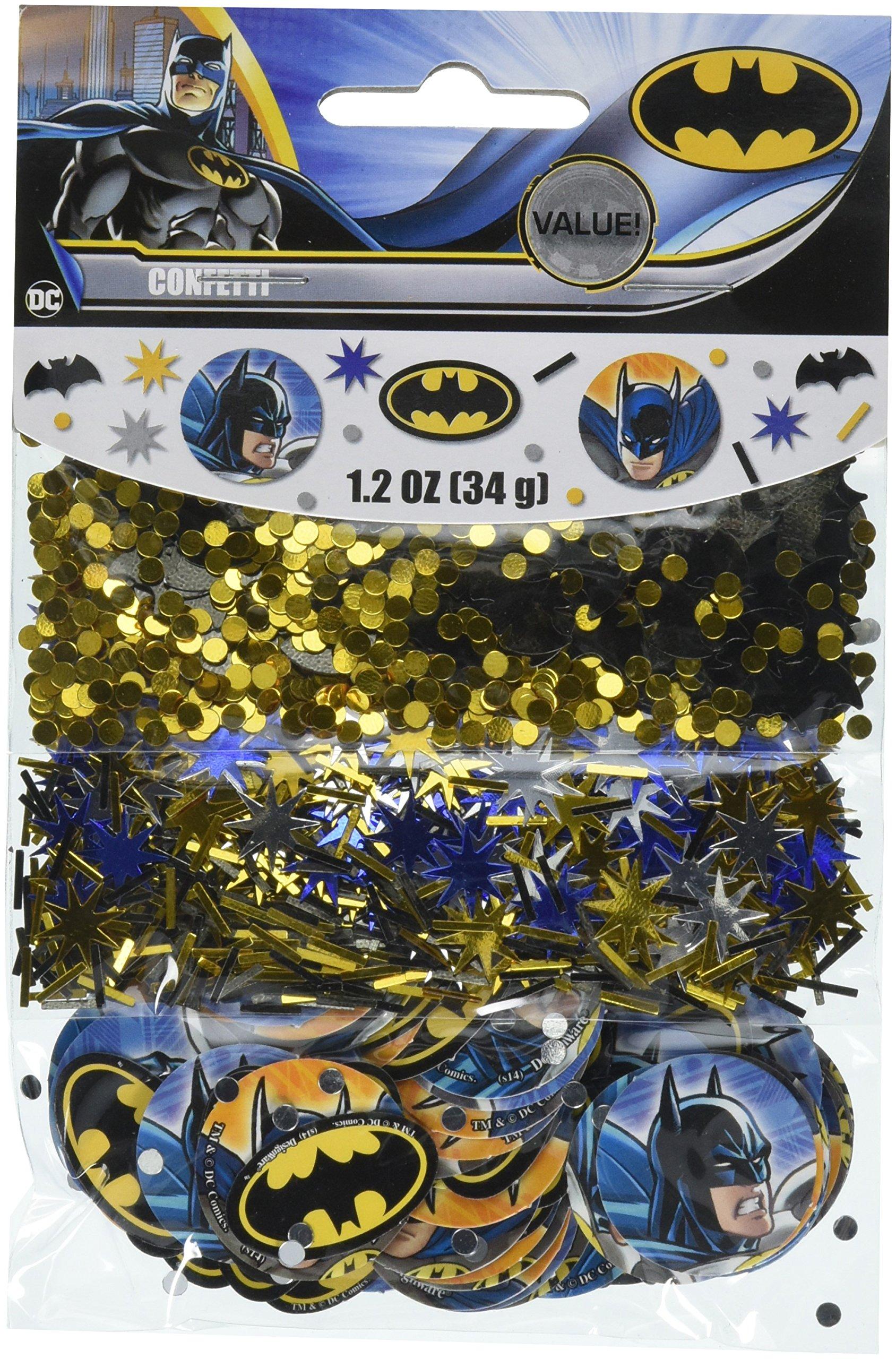 amscan Batman Value Confetti, Party Favor, 12 Ct.