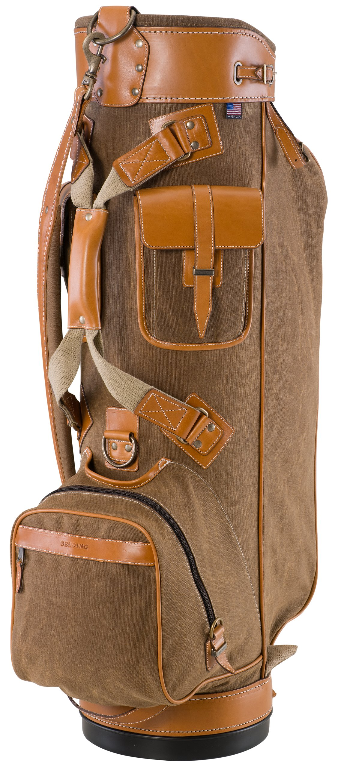BELDING American Collection Bushwhacker Golf Bag, 9.5-Inch, Tan