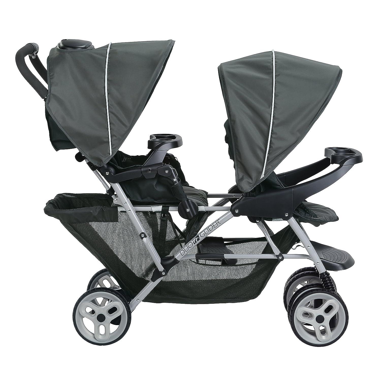 Graco Duo Glider Stroller 2 Children Baby Pushchair Click Connect Glacier New