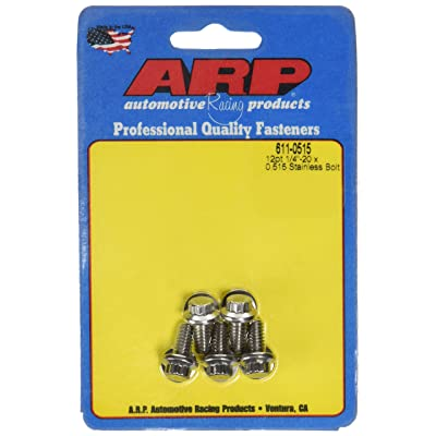 ARP 6110515 Stainless Steel 1/4-20 12-Point Bolts - Pack of 5: Automotive