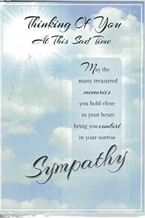 sympathy card thinking of you at this sad time card by prelude