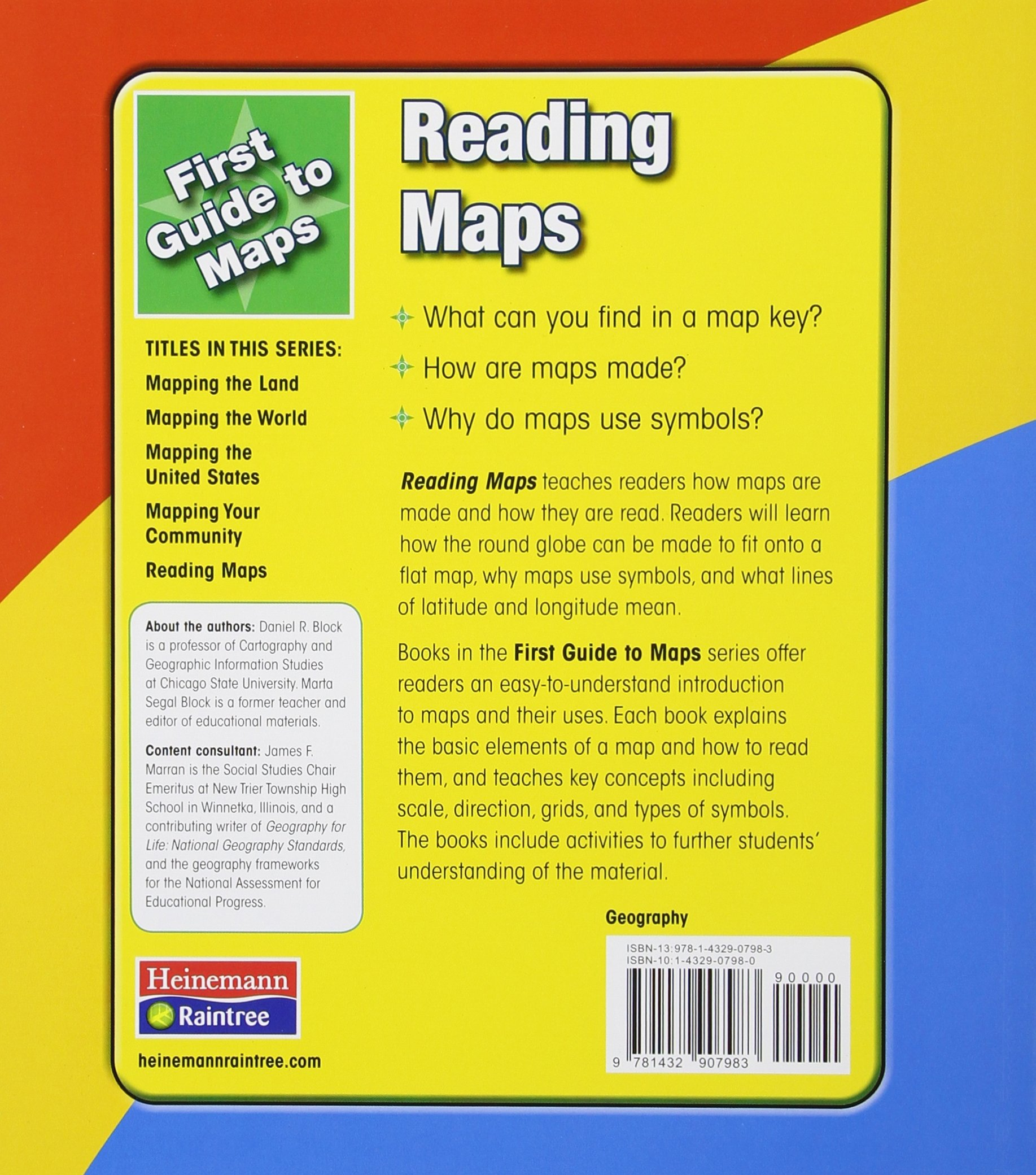 Reading Maps First Guides To Maps Marta Segal Block Daniel R