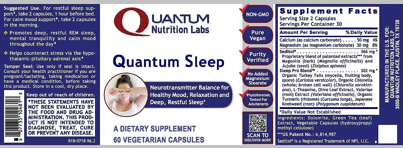Amazon.com: Quantum Dormir, 60 Cápsulas vegetarianas ...