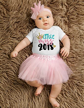 192642e804cc Little miss 2018 princess pink tutu set ,First Birthday Outfit,Black Tutu,  Birthday