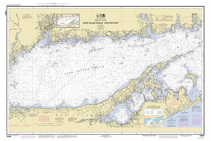 Amazon.com: Long Island Sound - Eastern Part - 2014 Nautical Map ...