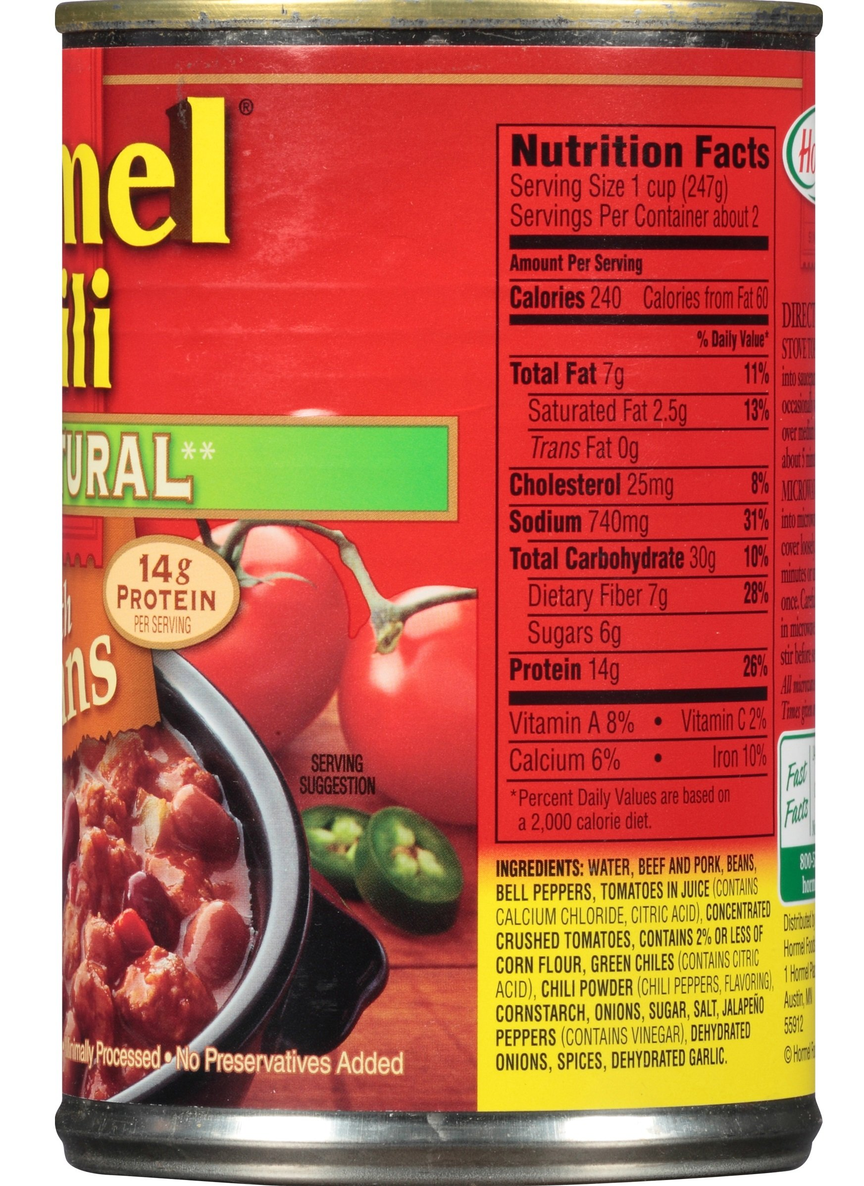 Hormel Natural Chili with Beans, 15 Ounce (Pack of 8)