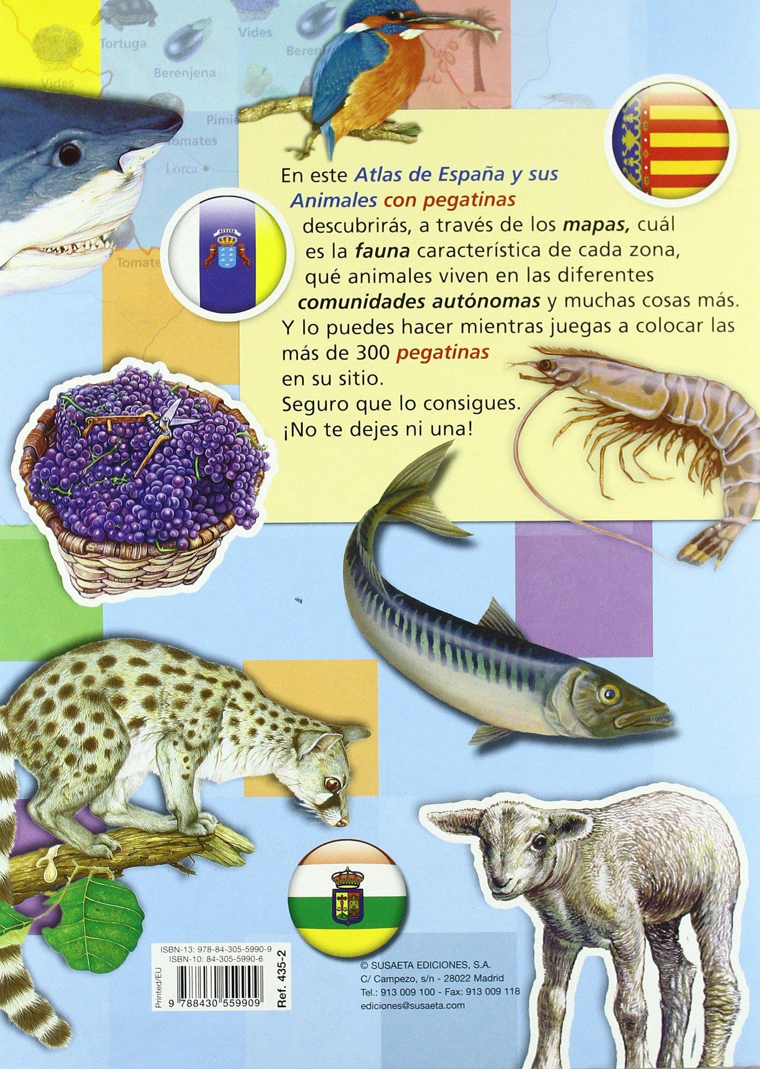 Atlas De España Y Sus Animales Atlas De Animales Con Pegatina: Amazon.es: Susaeta Ediciones S A: Libros