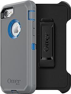 OtterBox DEFENDER SERIES Case for iPhone 8/7 (NOT PLUS) - Retail Packaging - MARATHONER (COWABUNGA BLUE/GUNMETAL GREY)