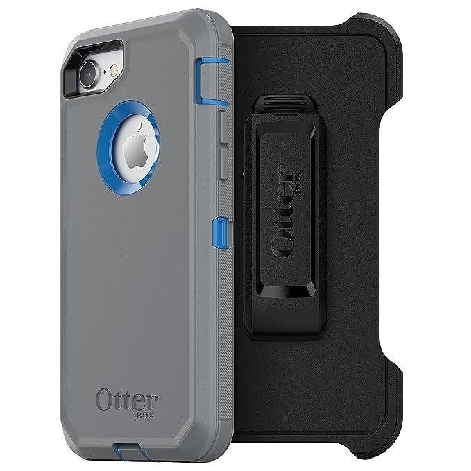 promo code cb5e9 a5097 OtterBox DEFENDER SERIES Case for iPhone 8 & iPhone 7 (NOT Plus) - Retail  Packaging - MARATHONER (COWABUNGA BLUE/GUNMETAL GREY)