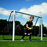 QUICKPLAY PRO Match-Fold Soccer Goal with Carry Bag [Single Goal] Professional Quality Fast Set-Up Soccer Goal, Folds Flat fo