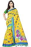 Jaanvi Fashion Art Silk Butterfly Motifs Kalamkari Printed Saree With Tassels