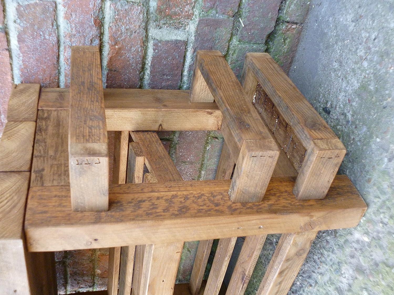 Zapatero de madera rústico con asiento y paraguas: Amazon.es ...