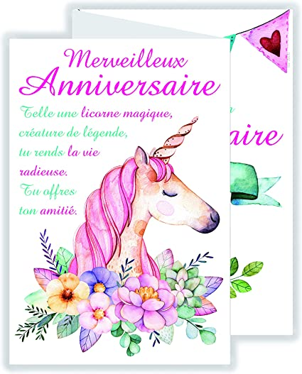 carte joyeux anniversaire fille afie 69 3906 Carte 3 Volets Joyeux Anniversaire Fille: Amazon.fr