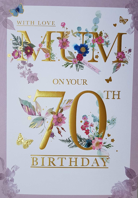 Floral Garden Design JJ Happy 30th Birthday Mum Greeting Card Home ...