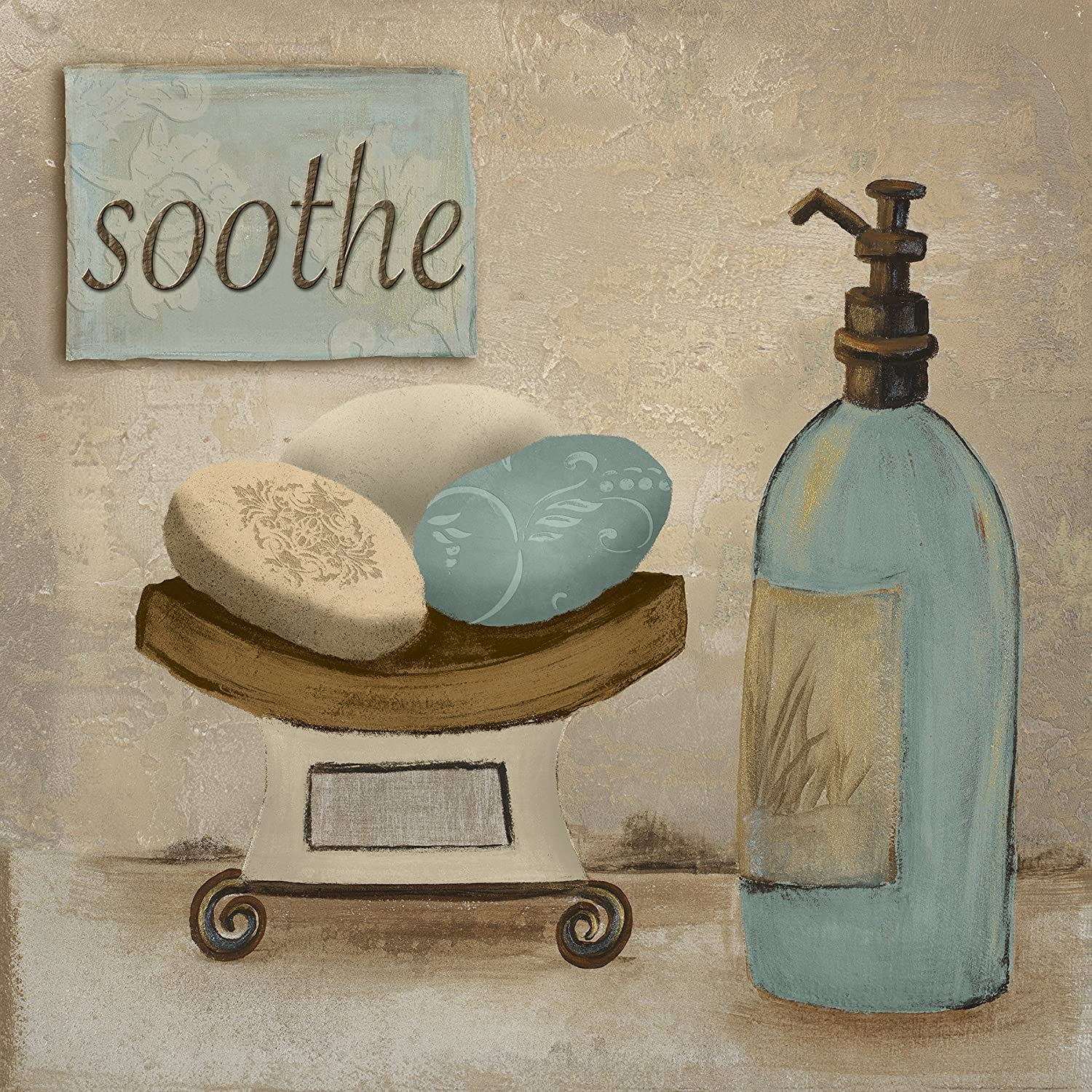 Amazon Com Soothe Spa Bathroom Art Print Poster 12x12 Posters Prints