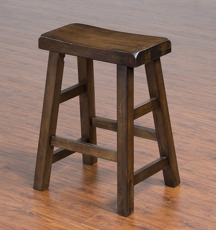 Amazon.com: Sunny Designs Savannah Saddle Seat Stool, 24