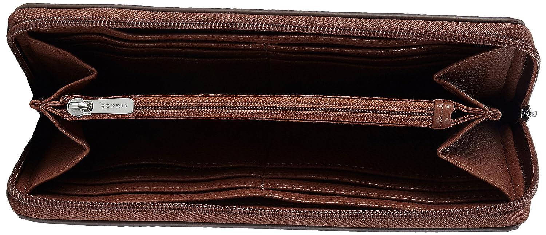 107ea1v036, Womens Wallet, Braun (Rust Brown), 1x9.5x19.5 cm (B x H T) EDC by Esprit