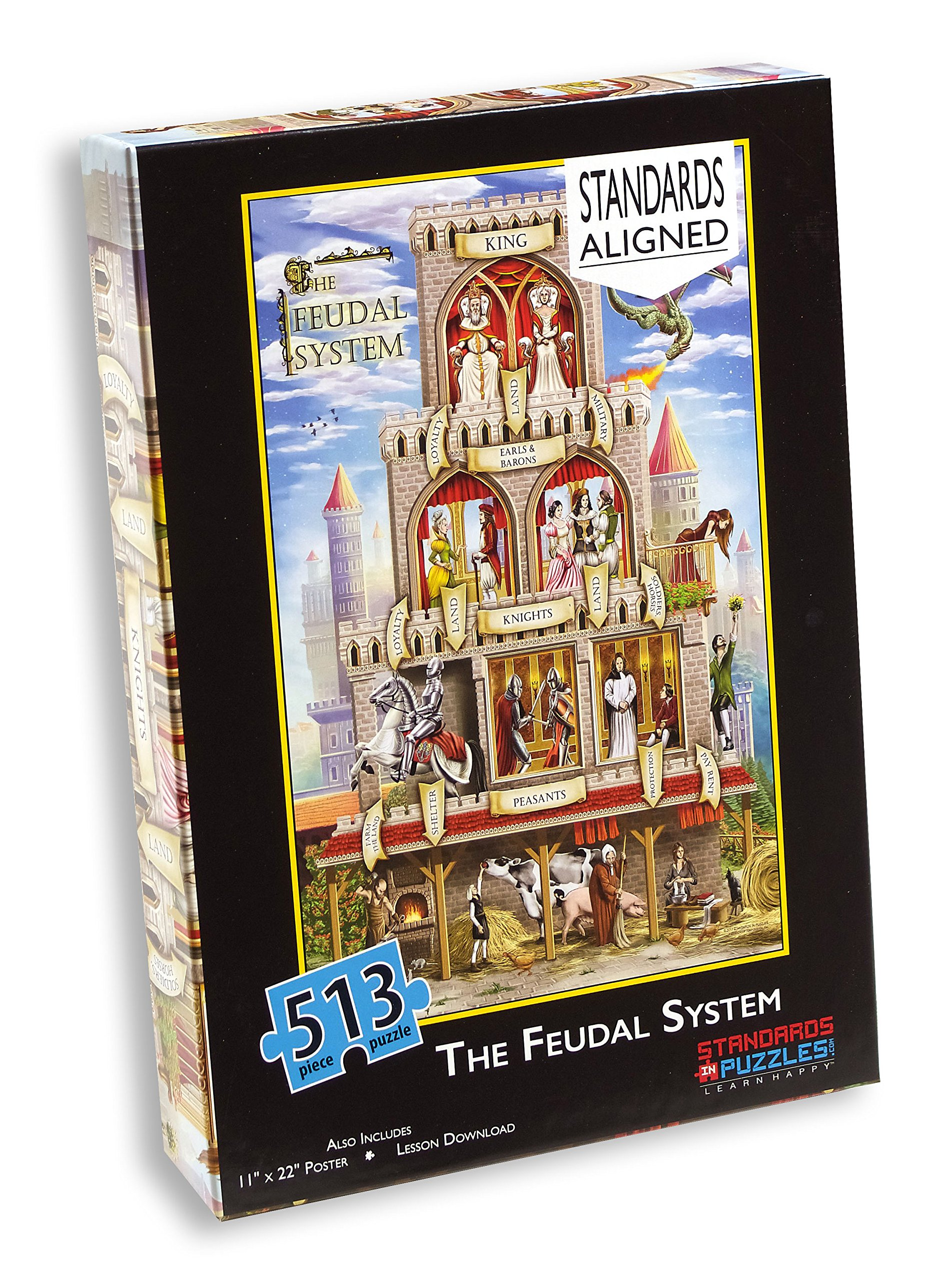 The Feudal System 513 Piece Jigsaw Puzzle and Station Activity Lesson Download